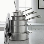 stack of pots and pans tk