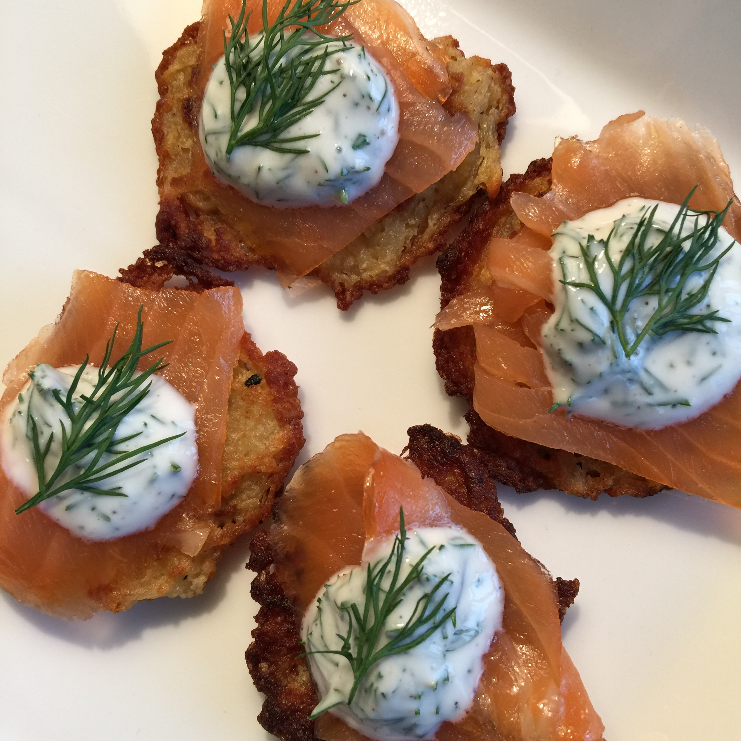 potato latkes, side dish, hors doeuvres, potato, latke, smoked salmon