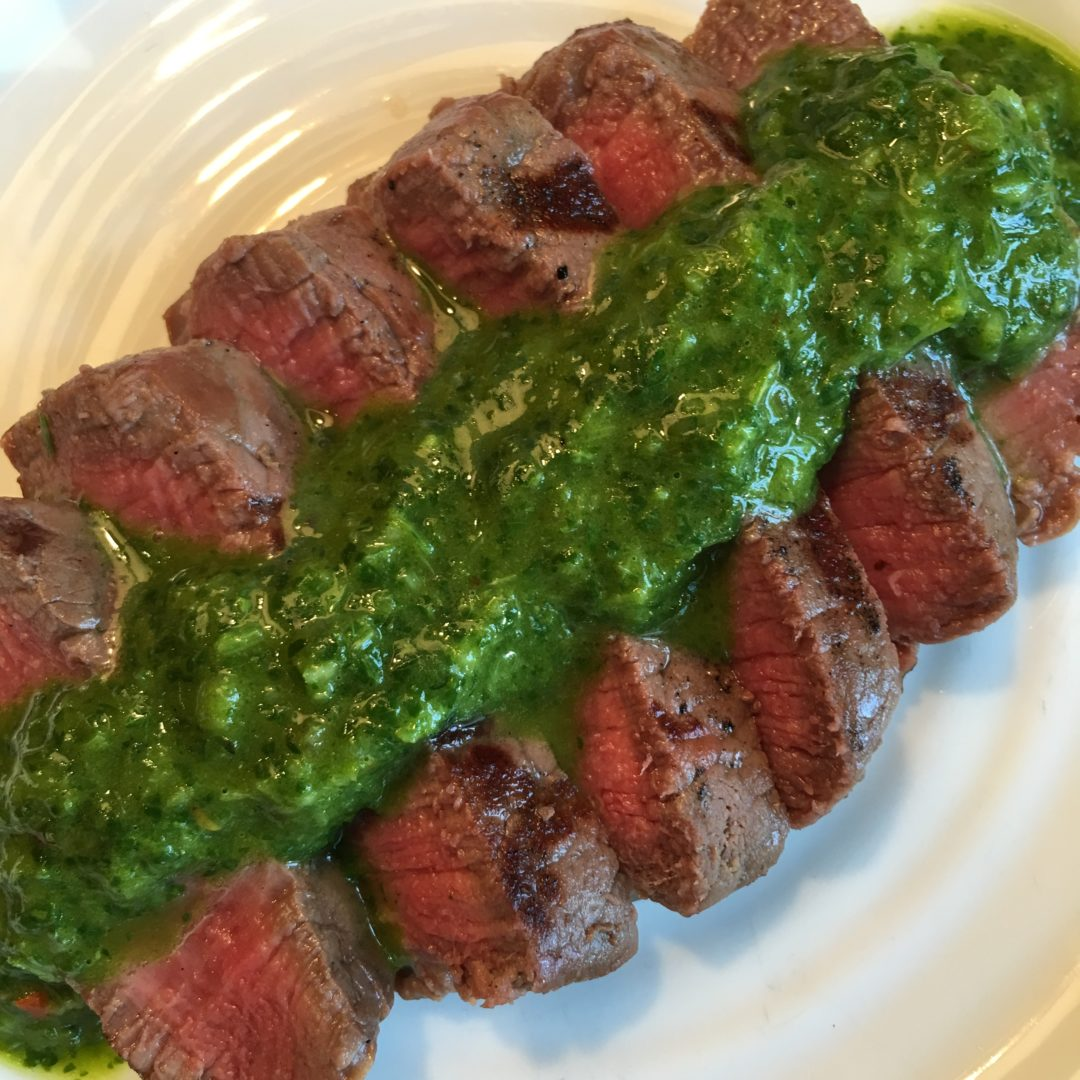 easy Chimichurri sauce, bowl of chimichurri sauce