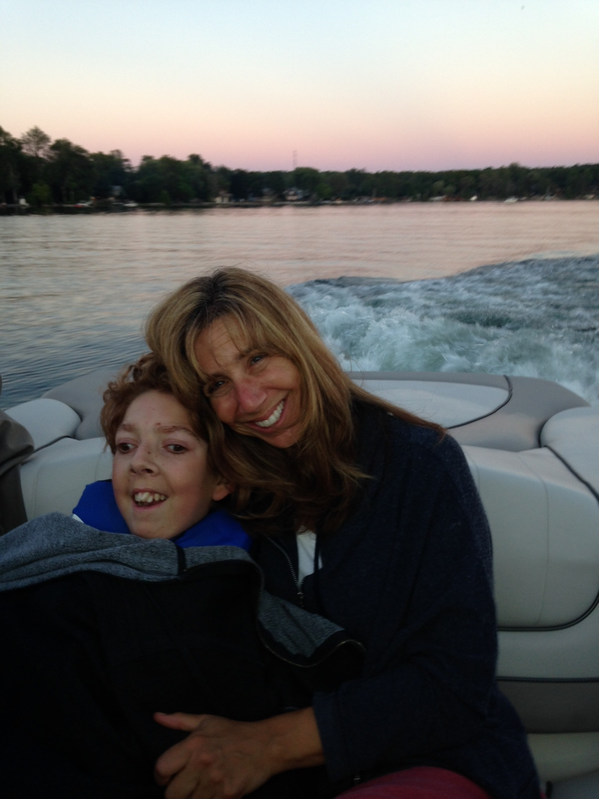 ellen and jacob schwartz on the boat
