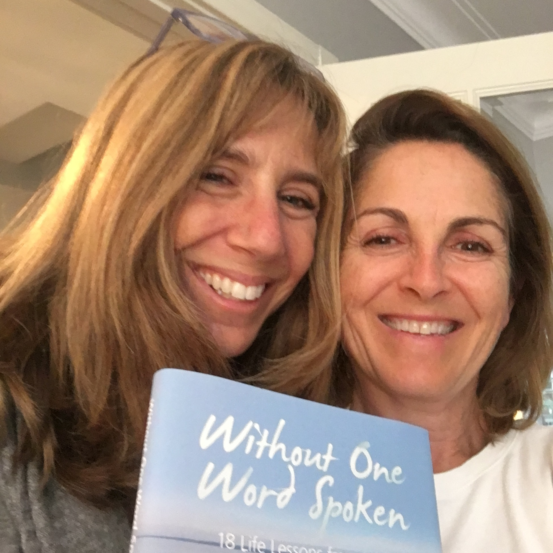 ellen schwartz and michelle kosoy with book 'without one word spoken'